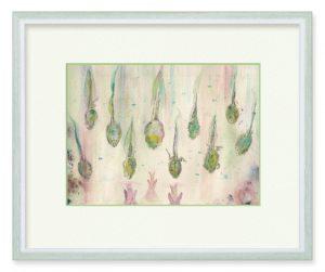 ミフユさん「アメフラシ」(B5)雨を梅雨の生き物のオタマジャクシで表現しました。映り込みのアメフラシもポイントです