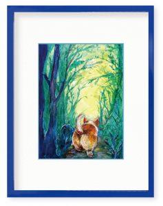 H.Koumuraさん「散歩、さんぽ、サンポ」(B5)我家のワンコを描きました。やっぱり、おしりは最強です。