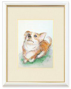 H.Koumuraさん「ワンコ(俯瞰図)」(B5)顔を描きたかったのですが、上から見下す感じで。飼い主目線、美化120%