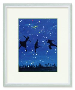 菊正宗さん「星の下で楽しもう」(B5)星明かりに照らされてそれぞれが楽しく踊っているのを表現したかったです