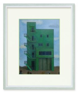 清水裕さん「建物」(B5)アクリルによる作品です。
