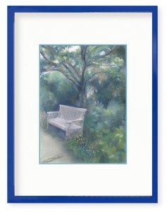 牧野瑠璃子さん「散歩道から」(B5)大きな木の下で、草木の香りに包まれて休憩。散歩途中のちいさな幸せです。