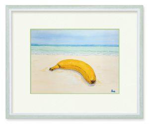 マティさん「旅するバナナ」(B5)バナナを見ると「とんでったバナナ」の歌を思い出す。自由に遠くに飛んで行けたら・・・