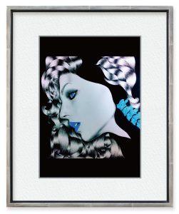 Yuchanさん「SPINE」(F4)AMALGAMとタイトルをつけた三作品の一つです。脊椎が女性の顔を付けています。