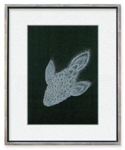 kanxさん「泳ぐ」(F4)この世にはいない想像の魚を描きました。