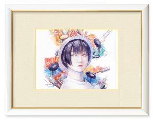 ブンチャカ和尚さん「待っててね、私のこと。」(B5)韓国での向日葵の花言葉には「待っていてね」という意味があるそうです。