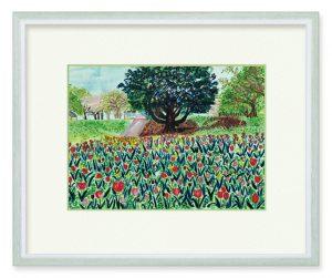 Sattyさん「ヒマラヤスギと春の力」(B5)大地からの贈り物、この季節の力強さを描いてみました。