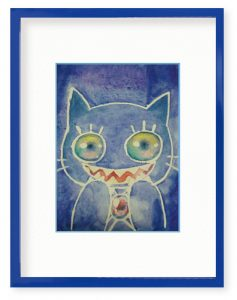 猫田音子さん「透明な好奇心」(B5)子供たちには大人の固定観念に縛られたくないという思いを込めて透明で何色でもなれる猫の子供を描きました