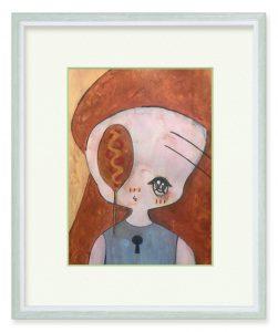おぼろげさん「左側に見えますのが、アメリカンドッグにござい」(B5)アメリカンドッグが好きです!食べたくなったので描きました。マスタードは必須ですね。