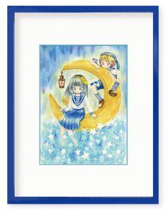 芋さん「星海月」(B5)青色が持つ清涼感と、少しひんやりした冷たさを感じ取ってもらえたらと思い制作いたしました。