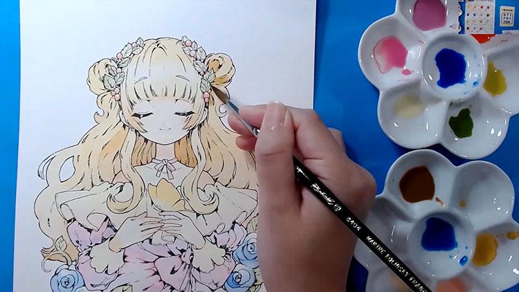 第2回オンライン水彩イラスト講座5
